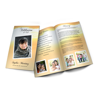 Golden Light - Funeral Program Template