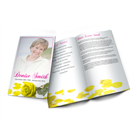 Yellow Rose - Memorial Programs