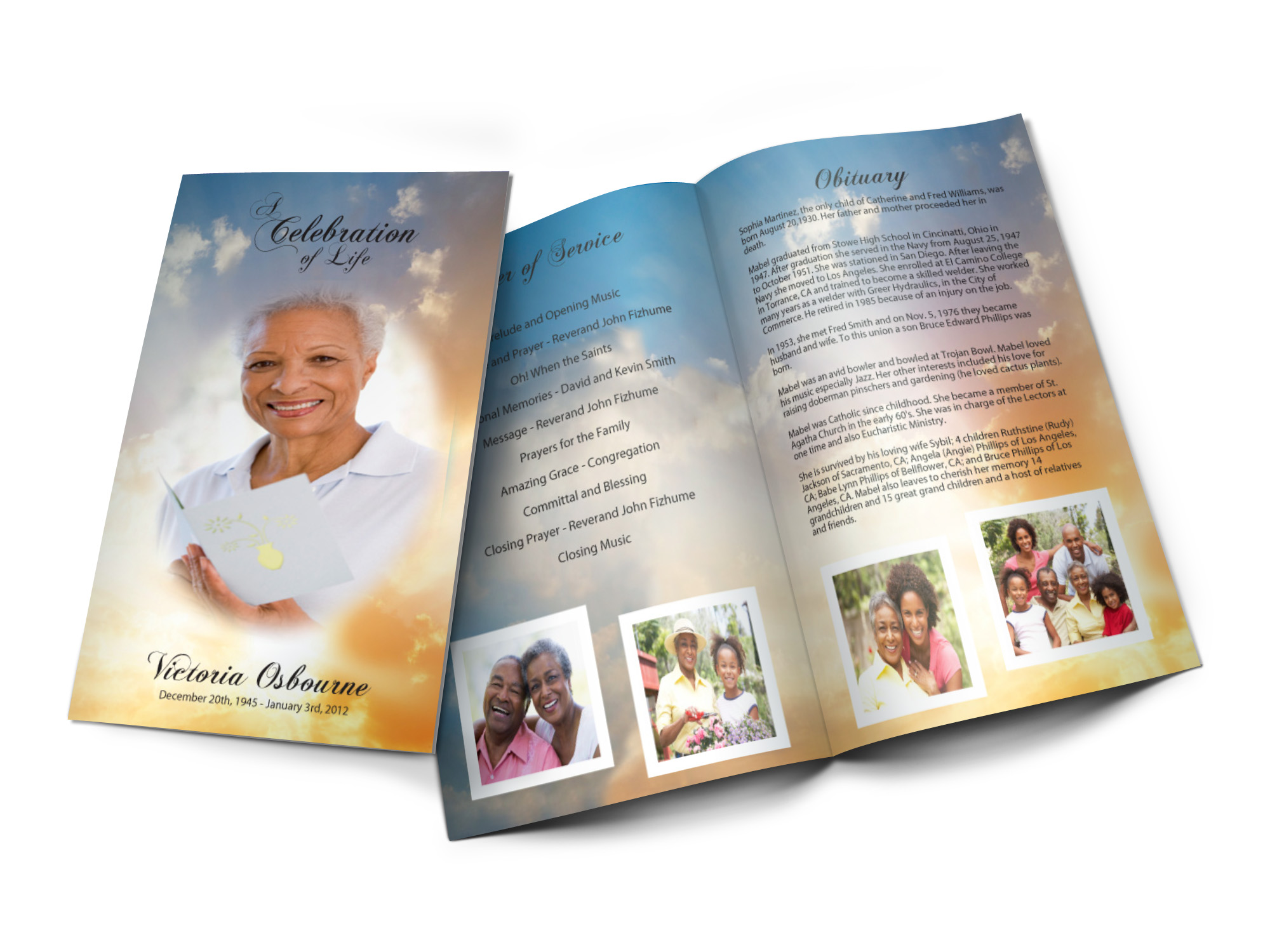 custom design your funeral programs or your memorial programs online