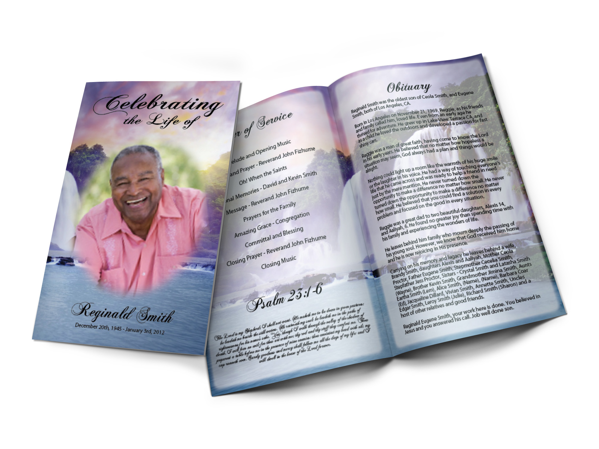 Real People Funeral Programs